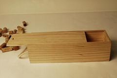 single slide wooden wine box