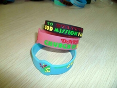 custom texts & logo silicone wristband for promotion gifts