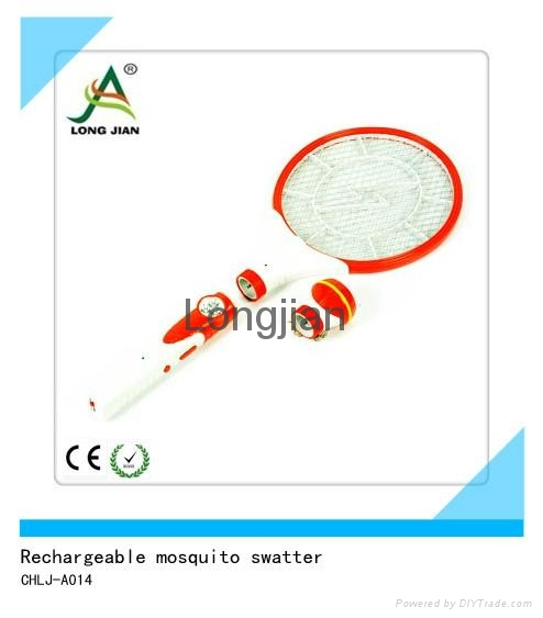 rechargeable mosquito  swatter  with  LED light   1