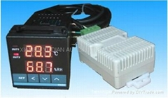 Incubator temperature and humidity controller with sensor