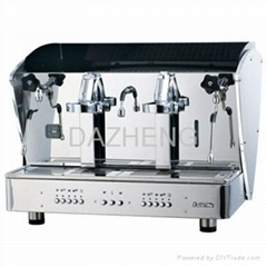 LaDeTiNa feilong double brewing head coffee machine