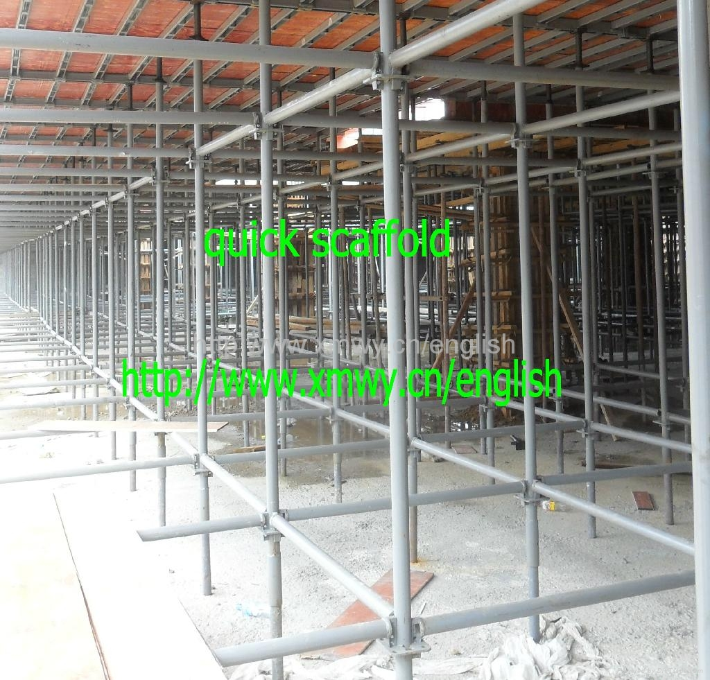 Steel Scaffolding Manufacturers : New cuplock scaffolding system with adjustable steel props