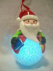 Christmas santa above on LED EVA ball