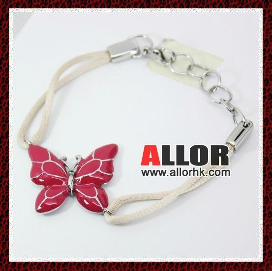 stainless steel butterfly charm adjustable bracelet 1