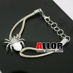2012 new design Stainless steel spider charm adjustable bracelet
