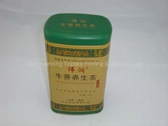 Rectangular Metal tea can-100*75*163mm