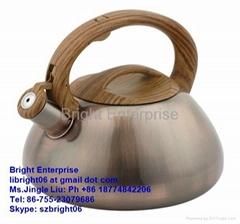 Copper Plarted Whistling Kettle