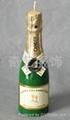 香槟啤酒瓶蜡烛