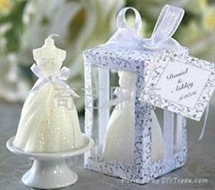 新娘婚纱蜡烛