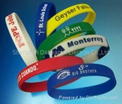Wristband silicone bracelet rubber