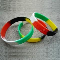 Colorful silicon rubber fashion wristband bracelets custom wristband