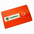 promotional item led credit card flashlight with 2 LED lights