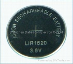 Lir2016 3.6V Lithium ion rechargeable battery