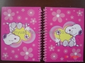 Cute hard cover spiral notebook with