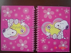 Cute hard cover spiral notebook with animal cover