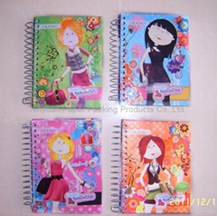 Hardcover spiral notebooks for girls
