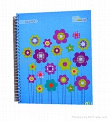 Hard cardboard cover spiral notebooks