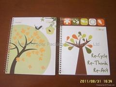 Hardcardboard cover spiral notebooks