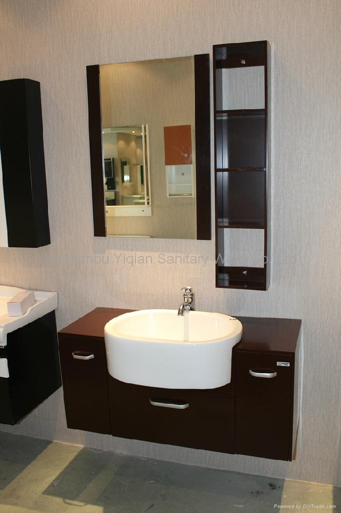 Wall Mounted Mirror Design Bathroom Vanity Cabinet 1