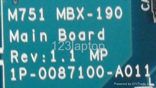 mbx-190 m751 laptop motherboard for  sony 2