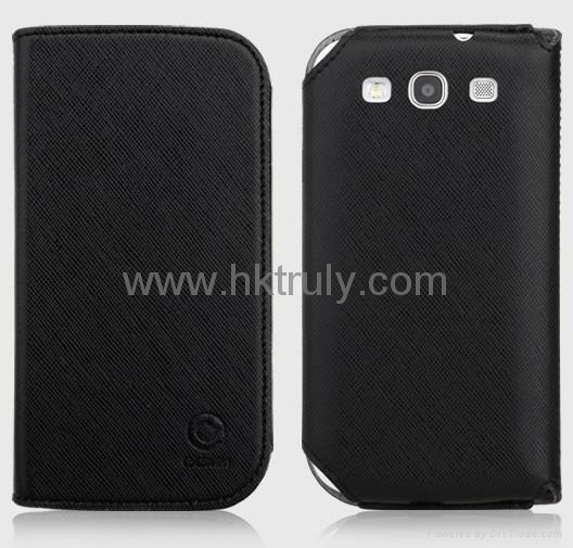 2012 New desing PU leather case cover for Samsung i9300 i9308 3