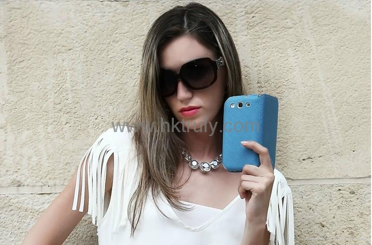 2012 New desing PU leather case cover for Samsung i9300 i9308 5