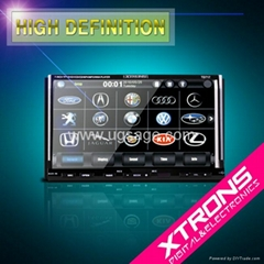 TD717 : 7 inch Touch Screen Car DVD Player Car Audio support IPOD