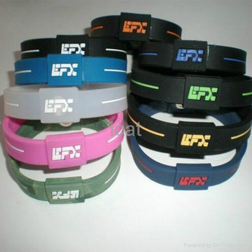 EFX Bracelet Power Band Silicone PB Wristband Health Energy Balance Bracelet 1