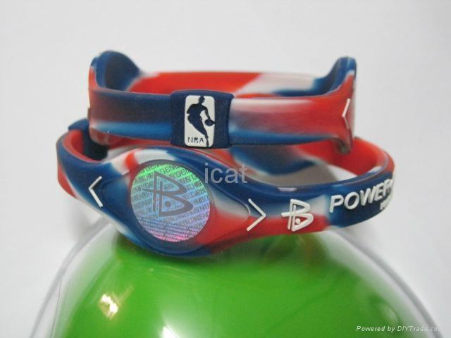 PB NBA Bracelet Power Band NBA Silicone Wristband Health Energy Balance Bracelet 1
