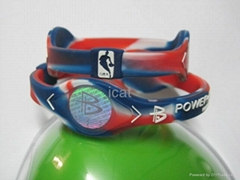 PB NBA Bracelet Power Band NBA Silicone Wristband Health Energy Balance Bracelet