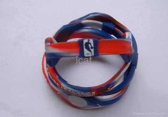 Pb Nba Bracelet Band Silicone Wristband Health Energy Balance 2