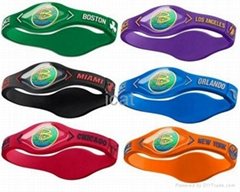 6 NBA Team Silicone Wristband PB Power Bracelet Health Energy Balance Bracelet