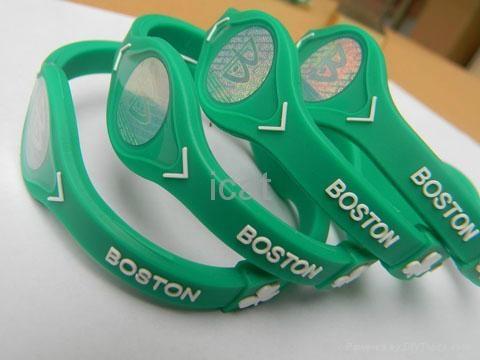 6 NBA Team Silicone Wristband PB Power Bracelet Health Energy Balance Bracelet 4