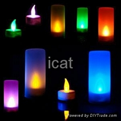 LED Candle Colorful Romantic Candle Lamp