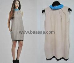 Newest Design Silk Cotton Dress Wholesale Womens Dresses Fashion Design Dress