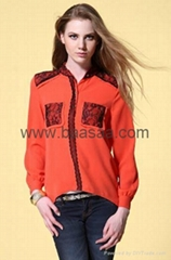 Wholesale Womens Clothing Fashion Shirts Womens Leisure Wear Brand Clothes