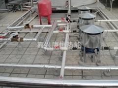 桐鄉美的空氣能中央熱水系統工程