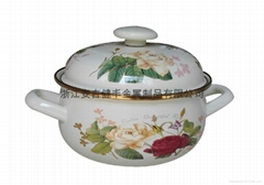 搪瓷湯鍋 大玫瑰花16-26cm