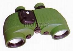 marine binoculars with reticle & built-in compass