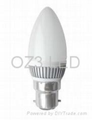 candle bulb 1.5w B22 E14 E27
