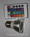 5W RGB spot light with controller