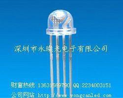 LED發光二極管 F5 F8 RGB 四腳全彩 七彩燈珠 5