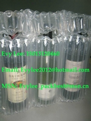 2012 Hot sale Inflatable PE column air bag for 750ml Red wine bottle packaging