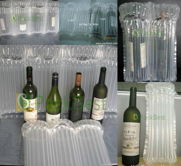 2012 Hot sale Inflatable PE column air bag for 750ml Red wine bottle packaging  2