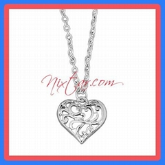 European Stackable Necklace With Heart