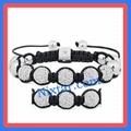 Crystal Beads And Alloy Beads Macrame Bracelet Wholesale 1
