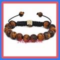 Tiger Eye Beads Macrame Bracelet