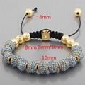 Crystal Beads And Alloy Beads Macrame Bracelet Wholesale 2