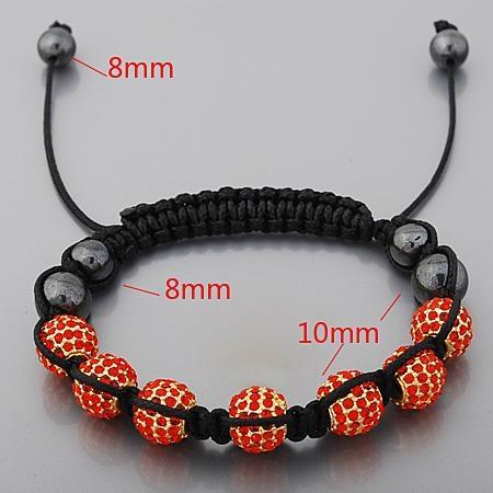 Crystal Beads And Alloy Beads Macrame Bracelet Wholesale 3