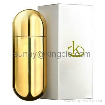 new style glass perfume bottle with cap  3